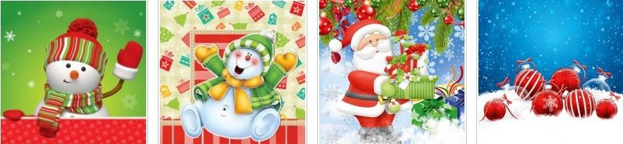 Новогодние картонные пакеты