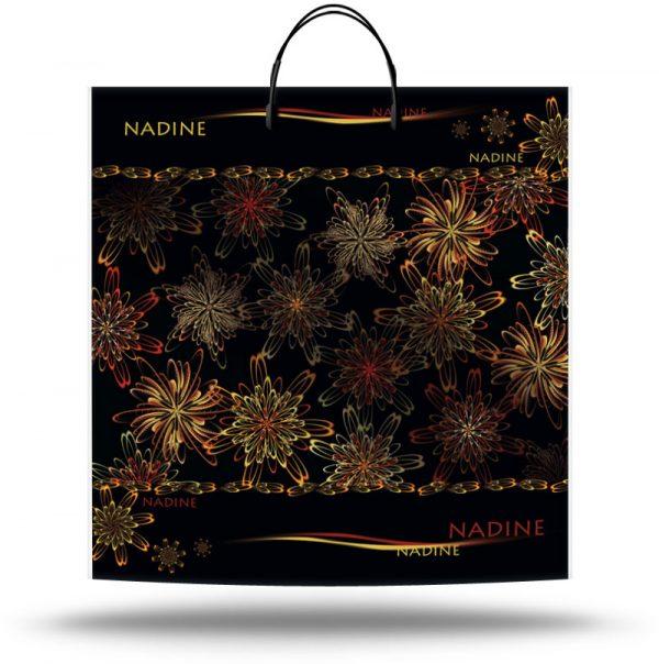 """Пакет на пластиковой ручке """"Nadine"""" (40х40) 10 шт"""