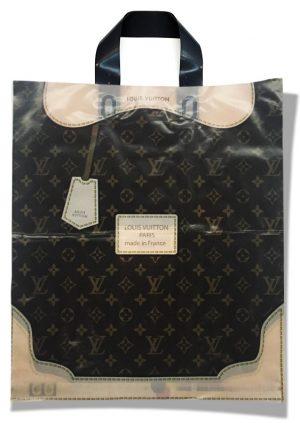 """Пакет с петлевой ручкой тип """"Диор"""" """"Louis Vuitton"""" (37х43) 25 шт"""