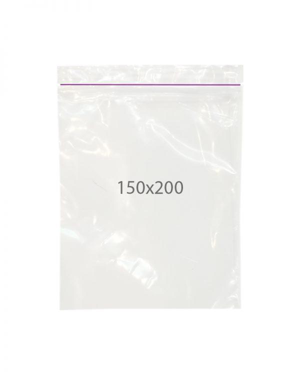 Пакет с замком zip (150х200) 100 шт