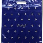 """Пакет с прорезной ручкой тип """"Serikoff"""" синий глянцевый (39х47) 25 шт"""