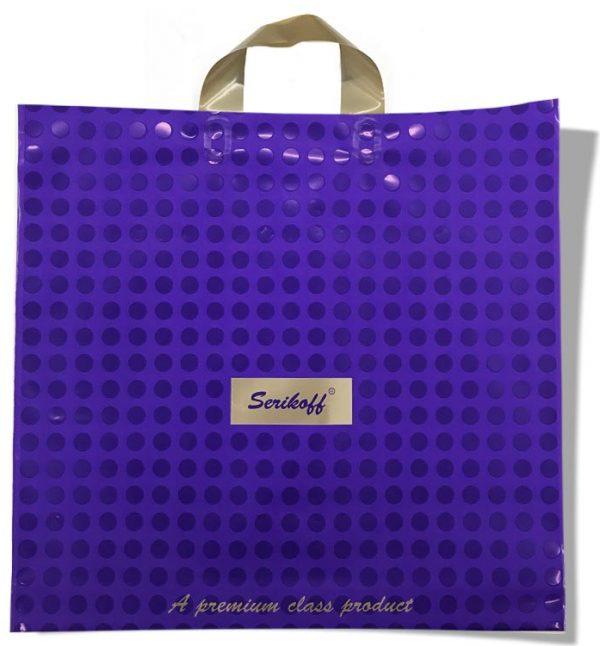 """Пакет с петлевой ручкой тип """"Serikoff"""" фиолетовый (40х40) 25 шт"""