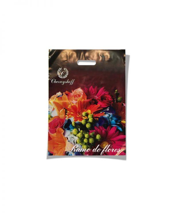 """Пакет с прорезной ручкой  """"Ramo de Flores"""" (20х30) 50 шт"""