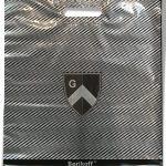 """Пакет с прорезной ручкой тип """"Serikoff"""" """"Щит"""" серебряный (45х54) 25 шт"""