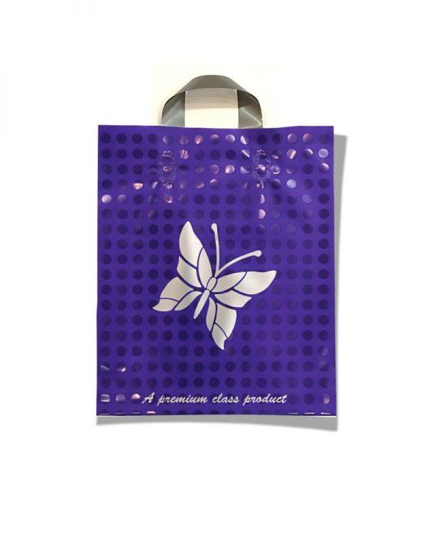 """Пакет с петлевой ручкой тип """"Serikoff"""" """"Бабочка"""" фиолетовый (30х35) 25 шт"""