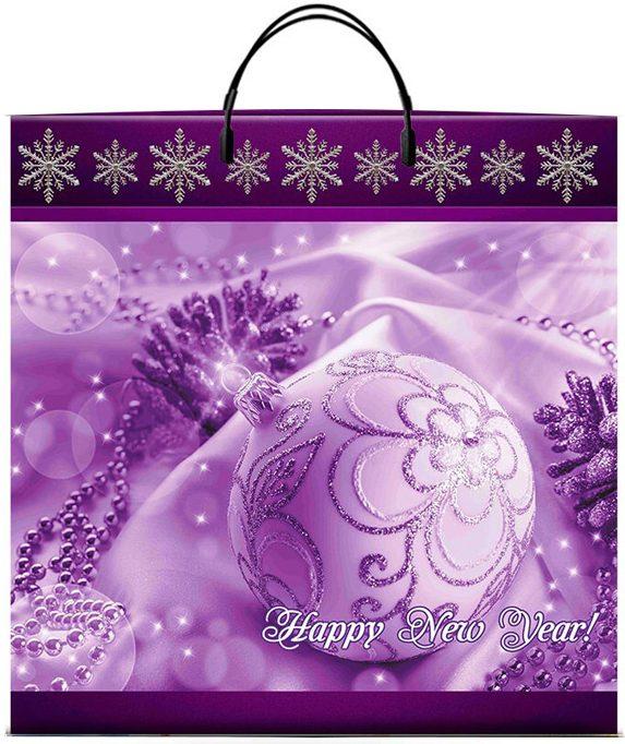 """Пакет на пластиковой ручке """"Happy New Year"""" (36х37) 10 шт"""