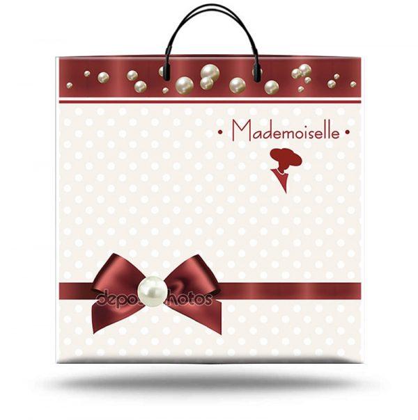 """Пакет на пластиковой ручке """"Mademoiselle"""" (40х40) 10 шт"""