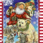 """Подарочный пакет картонный «Большой Вертикальный» NGBV 001 """"Santa Claus"""" (25х37х8)"""