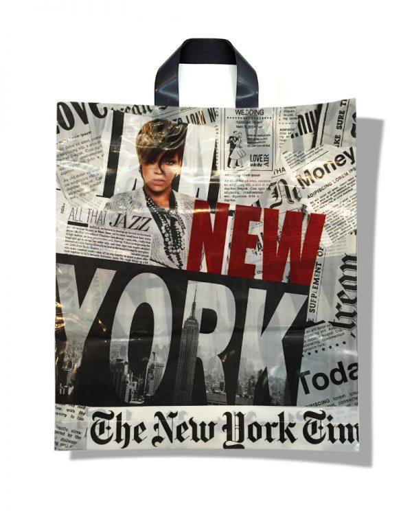 "Пакет с петлевой ручкой тип ""Диор"" ""New York"" (37х43)  25 шт"