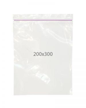 Пакет с замком zip (200х300) 100 шт