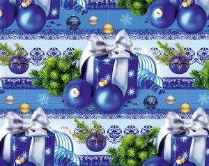 Бумага Подарочная новогодняя 109 (70х100)