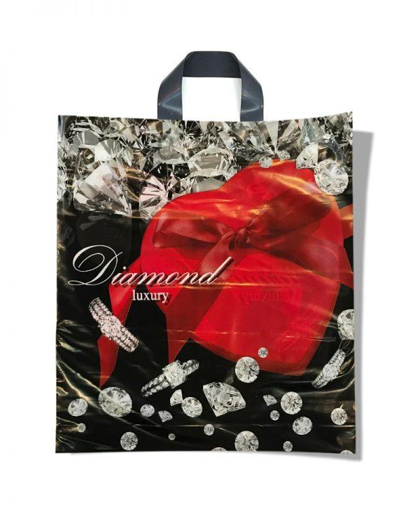 """Пакет с петлевой ручкой тип """"Диор"""" """"Diamond"""" (37х43) 25 шт"""