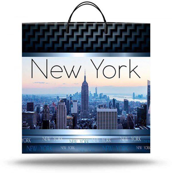 """Пакет на пластиковой ручке """"New York"""" (36х37) 10 шт"""