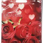"""Пакет с прорезной ручкой """"Red roses"""" ламинированный (30х39) 25 шт"""