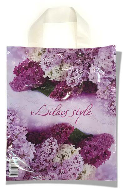 """Пакет с петлевой ручкой маленький ламинированный """"Lilacs Style"""" (23х29) 25 шт"""