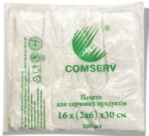 "Пакет-майка ""Comserv"" (16×30) 100 шт"