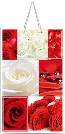 """Подарочный пакет картонный """"МАЛЫЙ"""" 10 """"Красные и белые розы"""" (11х18х5)"""