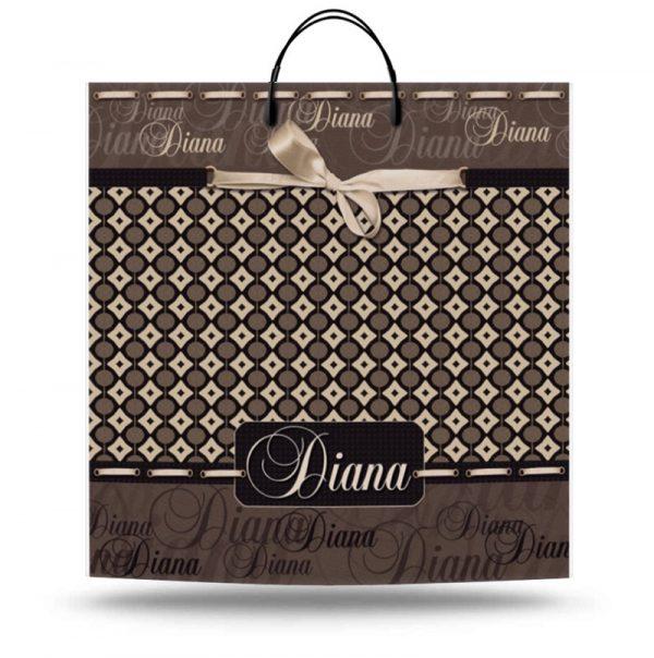 """Пакет на пластиковой ручке """"Diana"""" (40х40) 10 шт"""