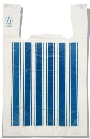 "Пакет-майка ""Полоса №4"" Comserv синий (44×70) 100 шт"