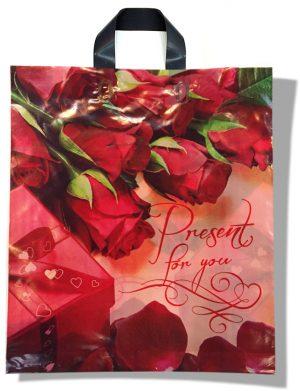 "Пакет с петлевой ручкой тип ""Диор"" ""Present for You"" (37х43) 25 шт"