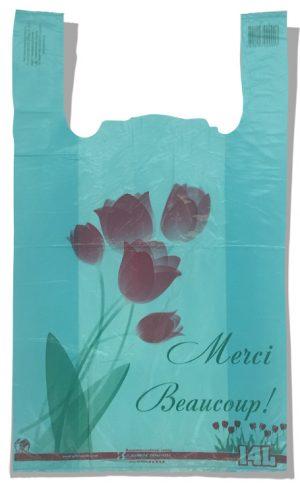 """Пакет-майка """"Тюльпан"""" Золотое Сечение бирюзовый (28×45) 250 шт"""