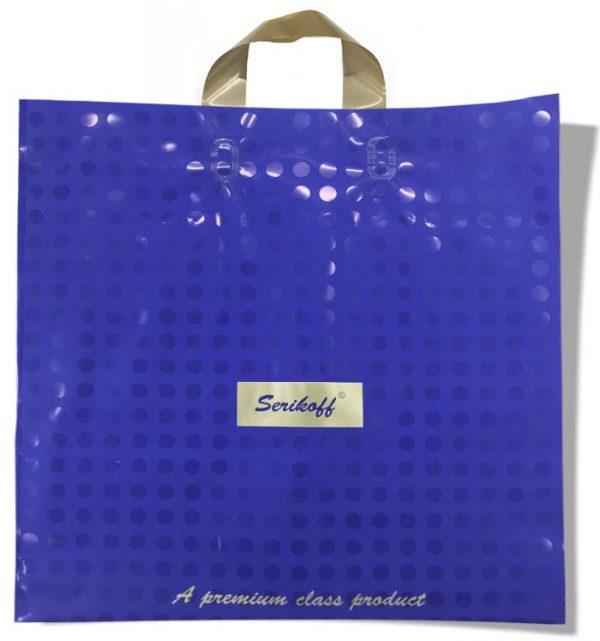 """Пакет с петлевой ручкой тип """"Serikoff"""" синий (40х40) 25 шт"""