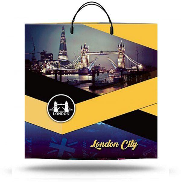 "Пакет на пластиковой ручке ""London"" (40х40) 10 шт"