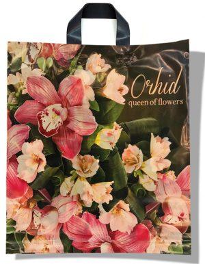 """Пакет с петлевой ручкой тип """"Диор"""" """"Orhid"""" (37х43) 25 шт"""