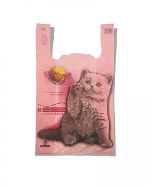 """Пакет-майка """"Ля Мур"""" Золотое Сечение розовый (28×45) 250 шт"""