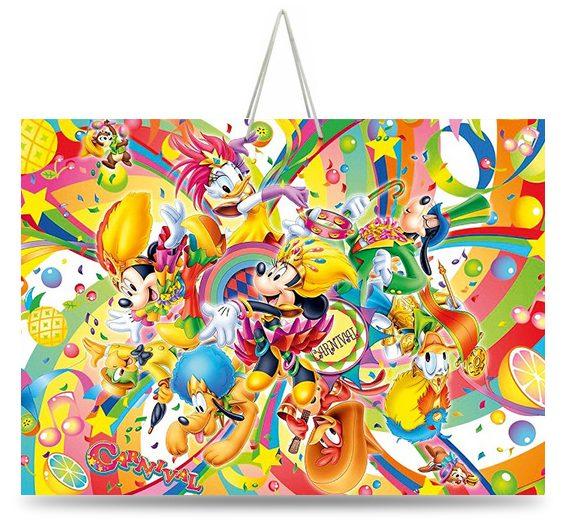 """Подарочный пакет картонный  """"ГИГАНТ ГОРИЗОНТАЛЬНЫЙ"""" 14 """"Disney carnival"""" (46х33х15)"""