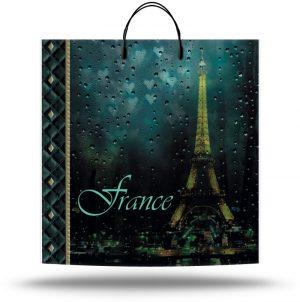 """Пакет на пластиковой ручке """"Франция"""" (40х40) 10 шт"""
