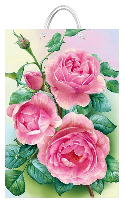 """Подарочный пакет картонный """"БОЛЬШОЙ ВЕРТИКАЛЬНЫЙ"""" 33 """"Розы"""" (25х37х8)"""