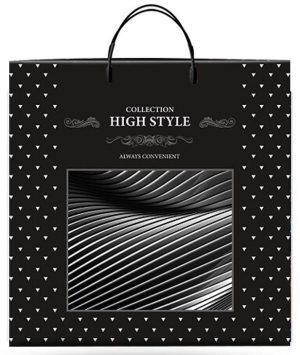 "Пакет на пластиковой ручке ""High Style"" (36х37) 10 шт"