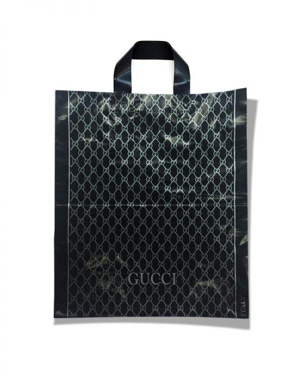 "Пакет с петлевой ручкой тип ""Диор"" ""Gucci Black"" (37х43) 25 шт"