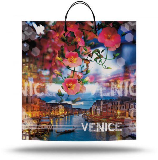 """Пакет на пластиковой ручке """"Венеция"""" (40х40) 10 шт"""