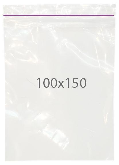 Пакет с замком zip (100х150) 100 шт