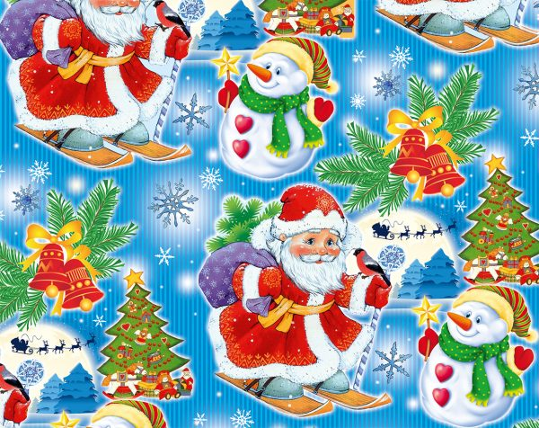 Бумага Подарочная новогодняя 116 (70х100)
