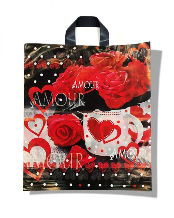 """Пакет с петлевой ручкой тип """"Диор"""" """"Amour"""" (37х43) 25 шт"""
