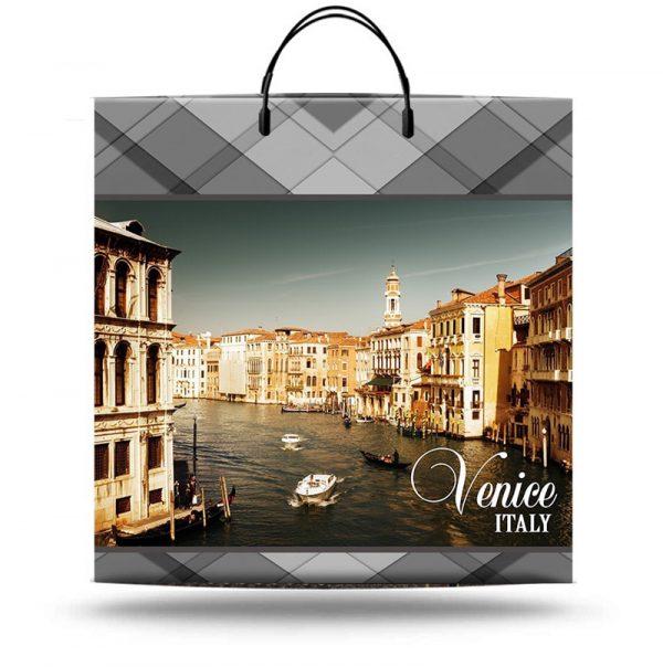 """Пакет на пластиковой ручке """"Venice Italy"""" (40х40) 10 шт"""