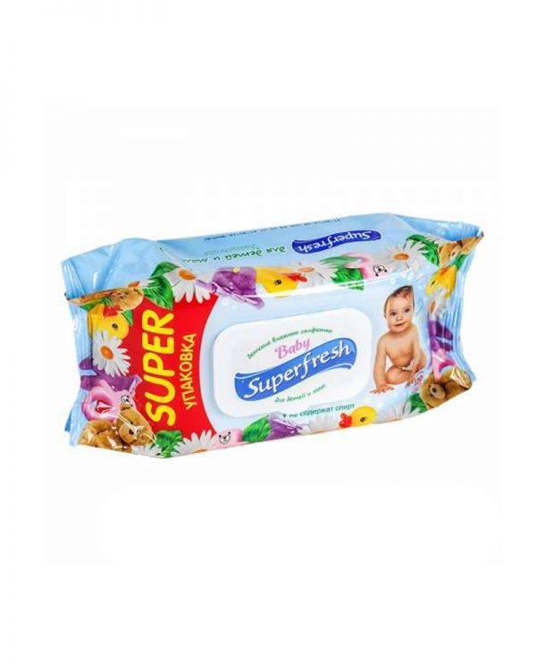 "Влажные салфетки Superfresh ""Baby Super""  120 шт"