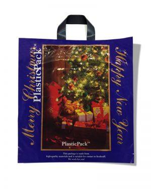 "Пакет с петлевой ручкой тип ""Наксан"" ""Merry Christmas"" (46х48) 25 шт"