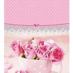 """Подарочный пакет картонный  """"БОЛЬШОЙ ВЕРТИКАЛЬНЫЙ"""" 25 """"Розы в чашке"""" (25х37х8)"""