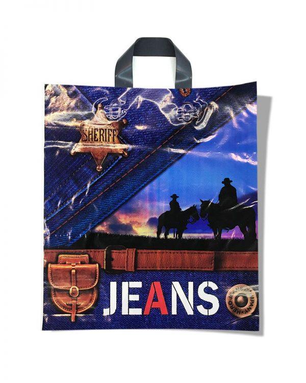 """Пакет с петлевой ручкой тип """"Диор"""" """"Sheriff Jeans"""" (37х43) 25 шт"""