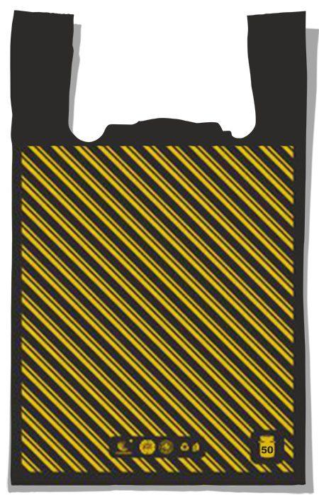 "Пакет-майка ""Диагональ №2"" Comserv (37×60) 100 шт"