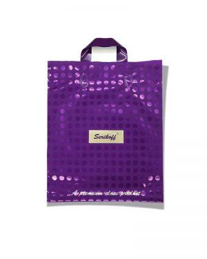 """Пакет с петлевой ручкой тип """"Serikoff"""" Serikoff фиолетовый (30х35) 25 шт"""