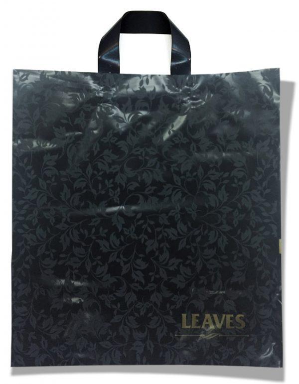 """Пакет с петлевой ручкой  """"Leaves"""" (37×40) 25 шт"""