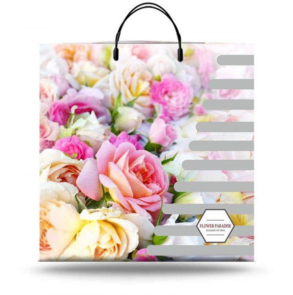 "Пакет на пластиковой ручке ""Flower Paradise"" (40х40) 10 шт"