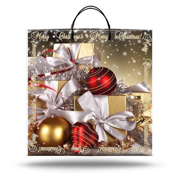 """Пакет на пластиковой ручке """"Merry Christmas 2"""" (40х40) 10 шт"""