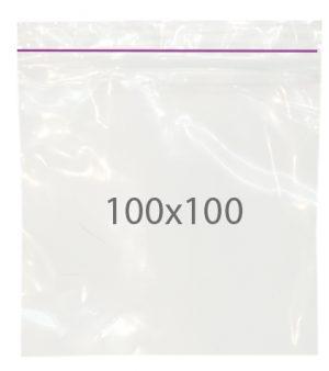 Пакет с замком zip (100х100) 100 шт