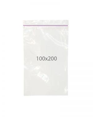 Пакет с замком zip (100х200) 100 шт